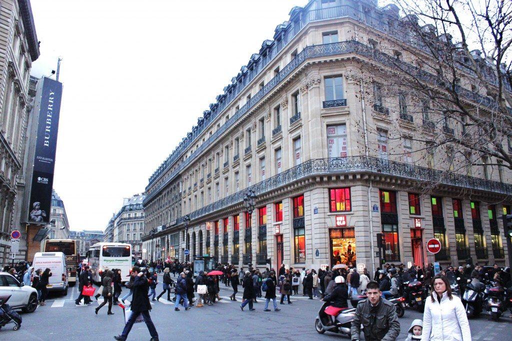 Famous fashion street in paris