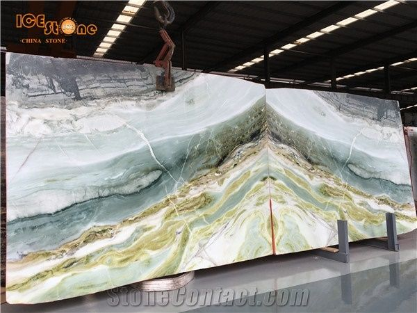 Green Marble Slab Wall Covering Tiles Xiamen Ice Stone Imp Exp Co Ltd Green Marble Stone Countertops Blue