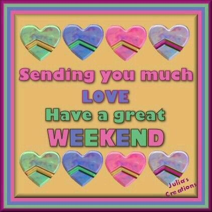 Wish you all a great weekend, take care♥★♥.