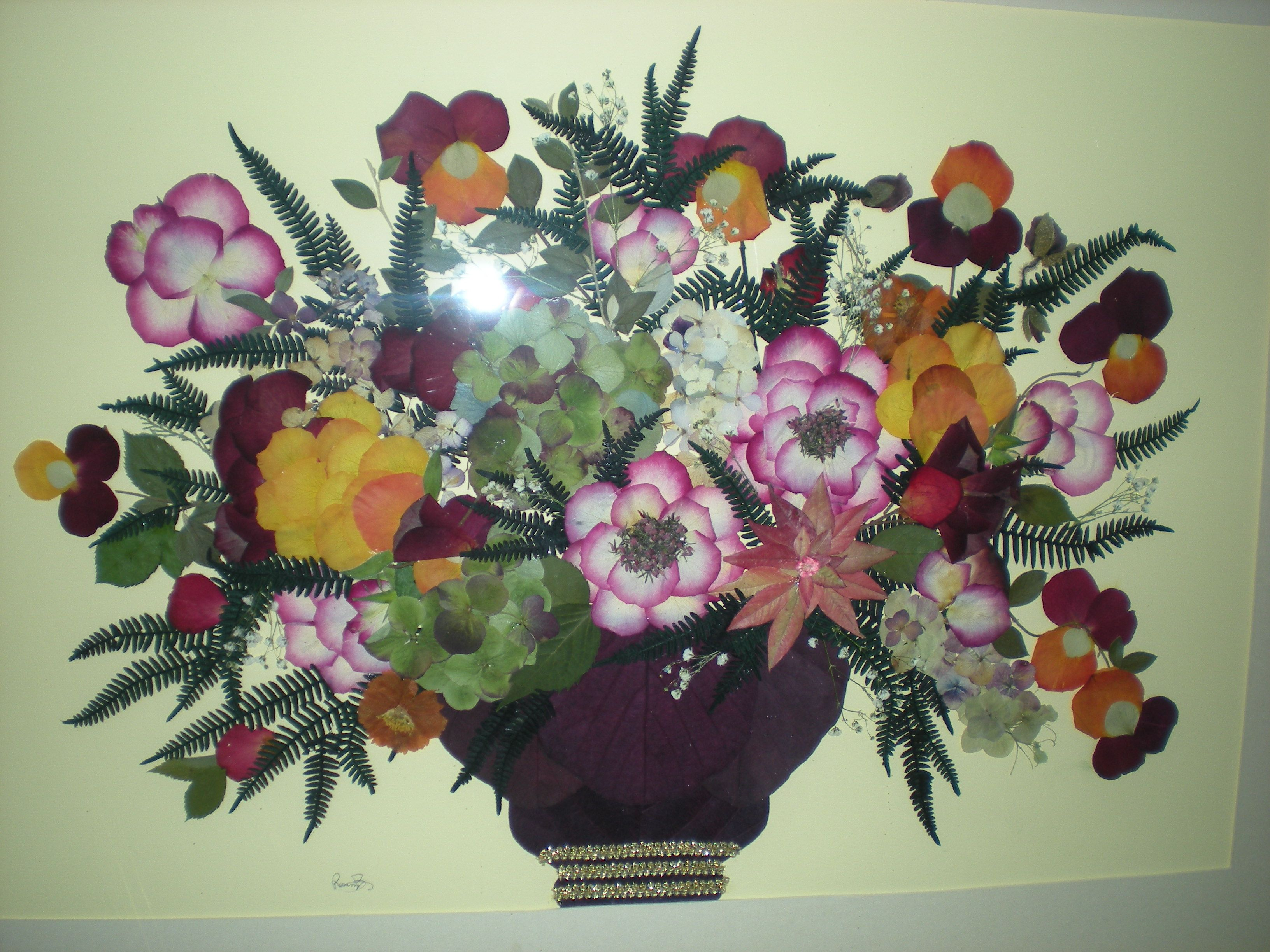 QUADRO   fiori pressati