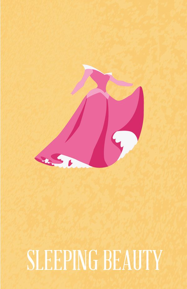 Princesses by Ryne Abraham, via Behance Snow White // Sleeping Beauty // Cinderella // Ariel // Belle // Jasmine