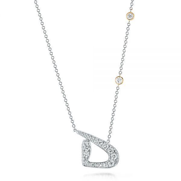 Custom two tone diamond pendant diamond pendant wedding guest custom two tone diamond pendant mozeypictures Choice Image