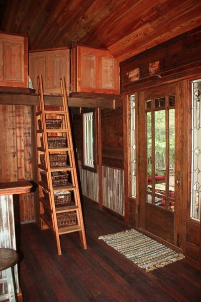 Rustic Texas Victorian Built By Tiny Texas Houses. (Looks At The Wonderful  Storage Ladder