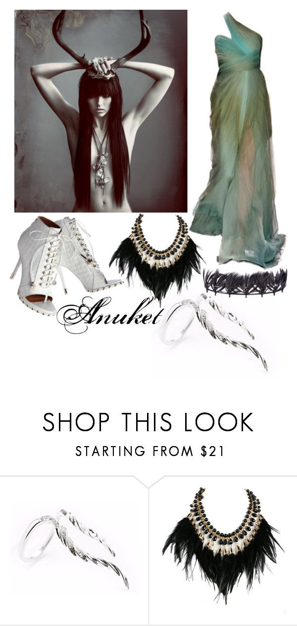 """""""Anuket"""" by elli-jane-xox ❤ liked on Polyvore featuring Givenchy, WithChic, Valentino and Seraphina"""