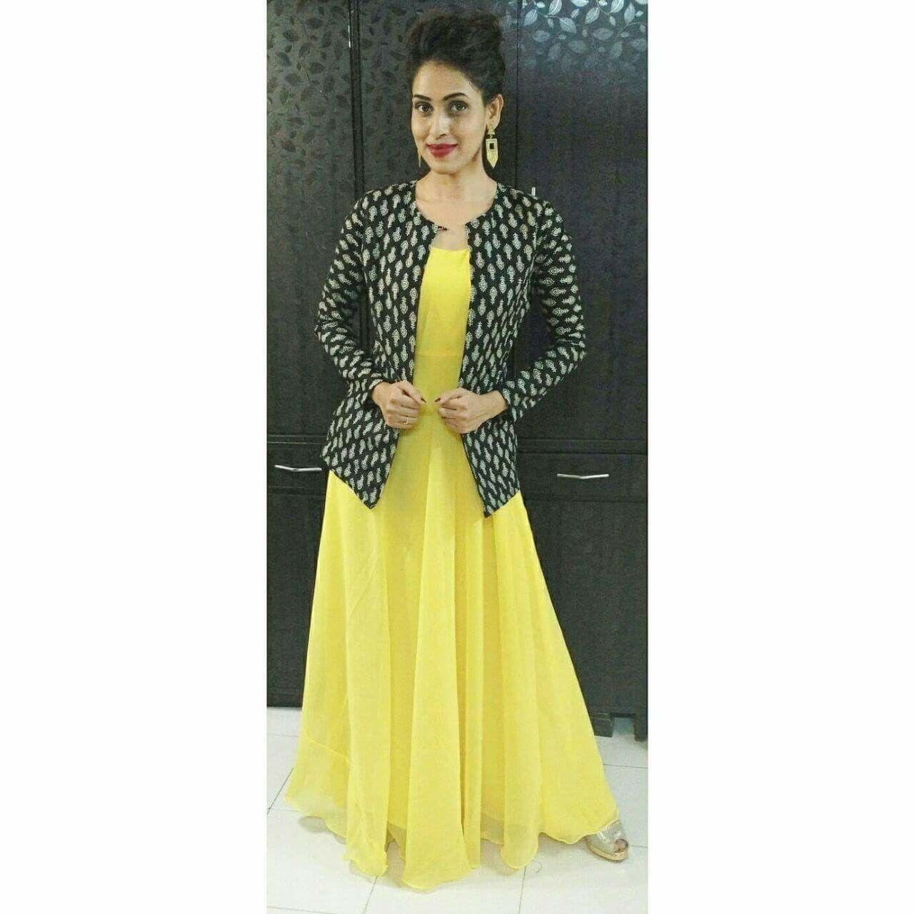 Anarkali With Jacket Dress Coats For Women Designer Party Wear Dresses Long Gown Design