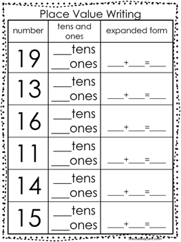 10 Place Value Worksheets Writing Tens And Ones And