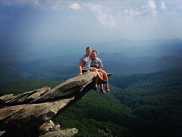 Rough Ridge off of the Blue Ridge Parkway in NC. Discovered by Andrew Baer at Rough Ridge, NC, Avery County, #NorthCarolina #hike #cliff
