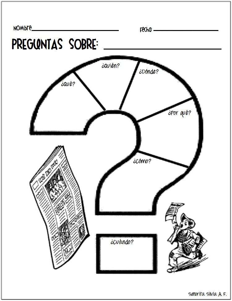 PREGUNTAS SOBRE... graphic organizer for reading