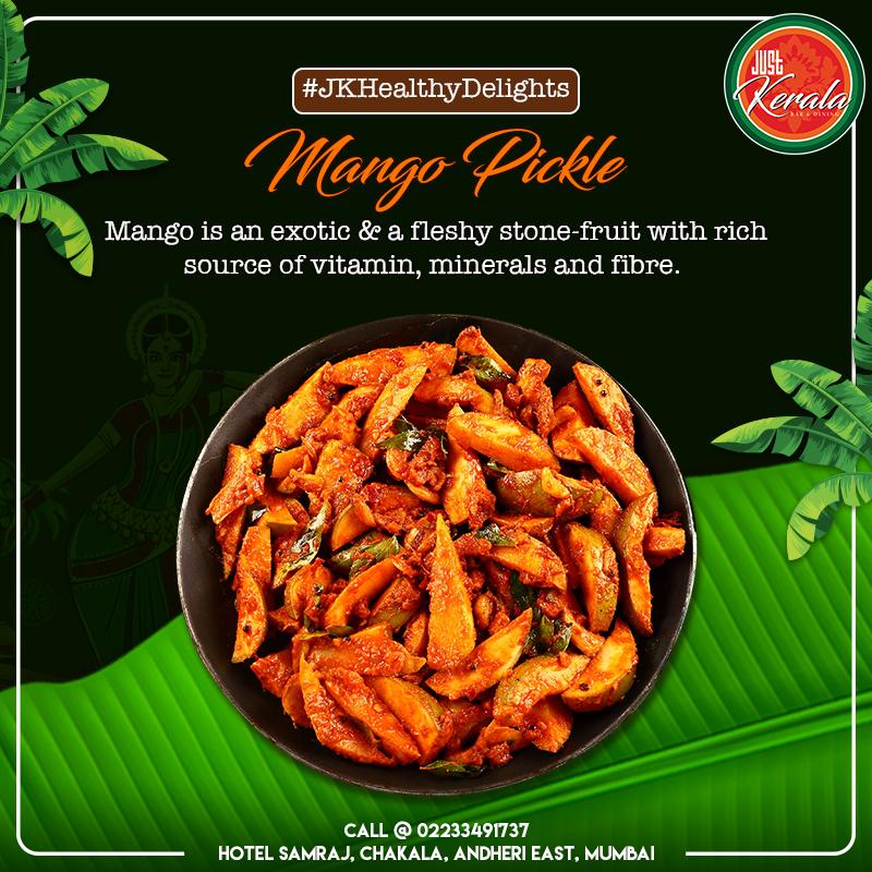 Just Kerala Pickled mango, Healthy, Mango