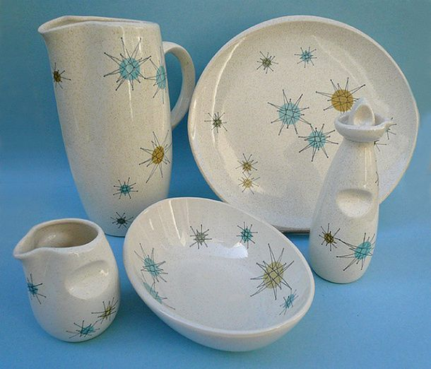 vintage franciscan patterns   Franciscan Pottery of California's famous 1950s Starburst pattern of ...