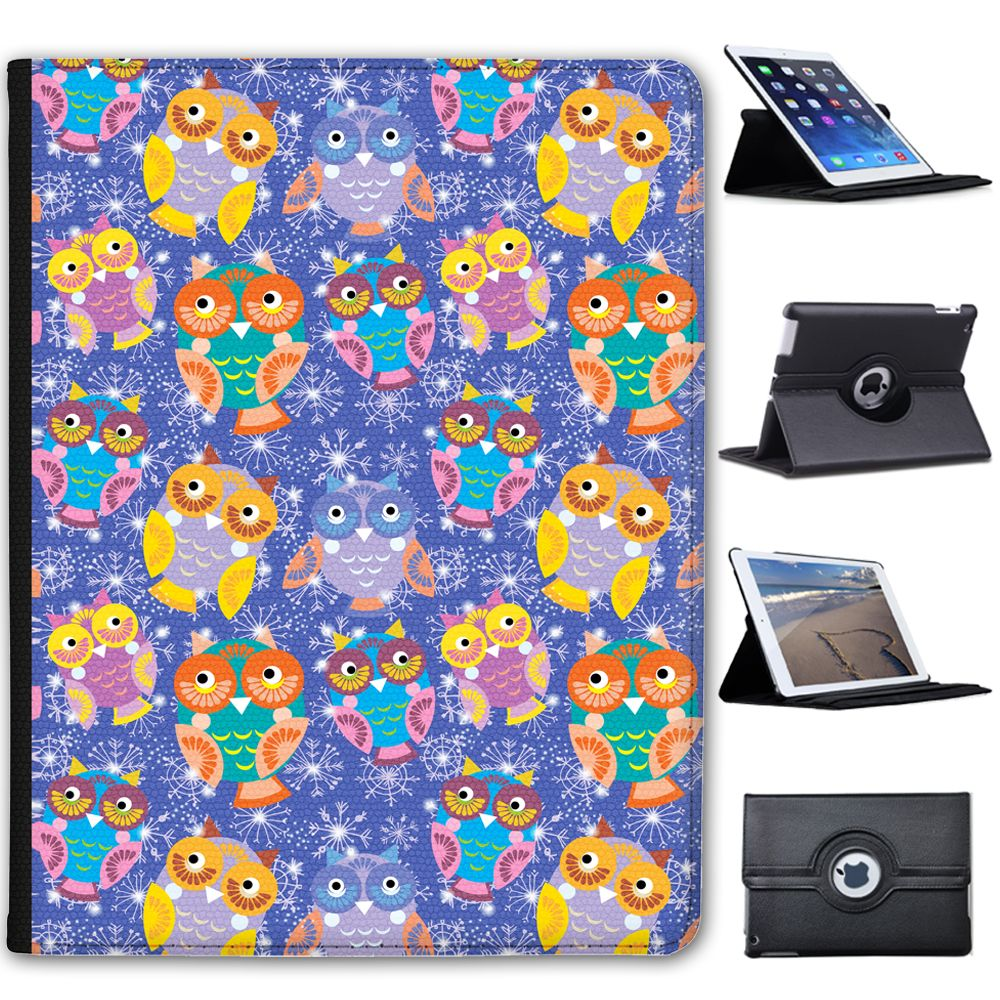 Details about big eye cute owl wallpaper folio cover leather case big eye cute owl wallpaper folio cover leather case for apple ipad in computerstablets networking tablet ebook reader accs cases covers voltagebd Gallery