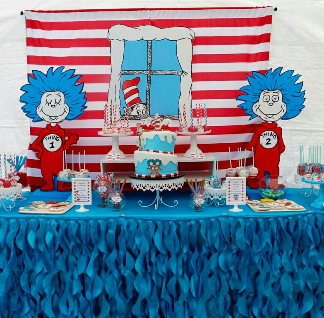 This Dr. Seuss 6th Birthday party is so much fun! Loving