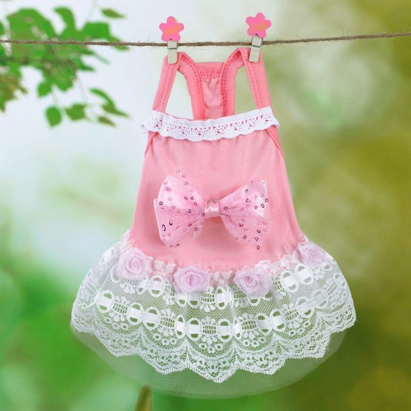 Dog Dress Size XS Pet Puppy Pup Clothes Attire Light Pink Mummy\'s ...