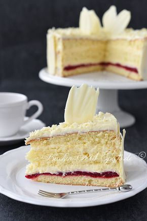 Konditorcreme- Torte mit Himbeeren - Rezept