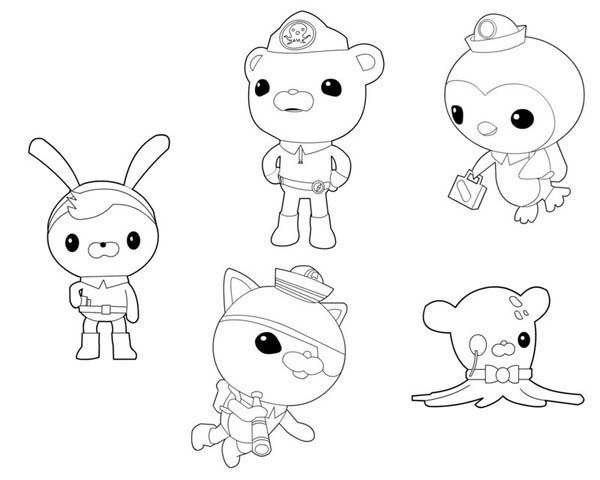 The Octonauts Characters Coloring Page Print Online Cartoon Pages