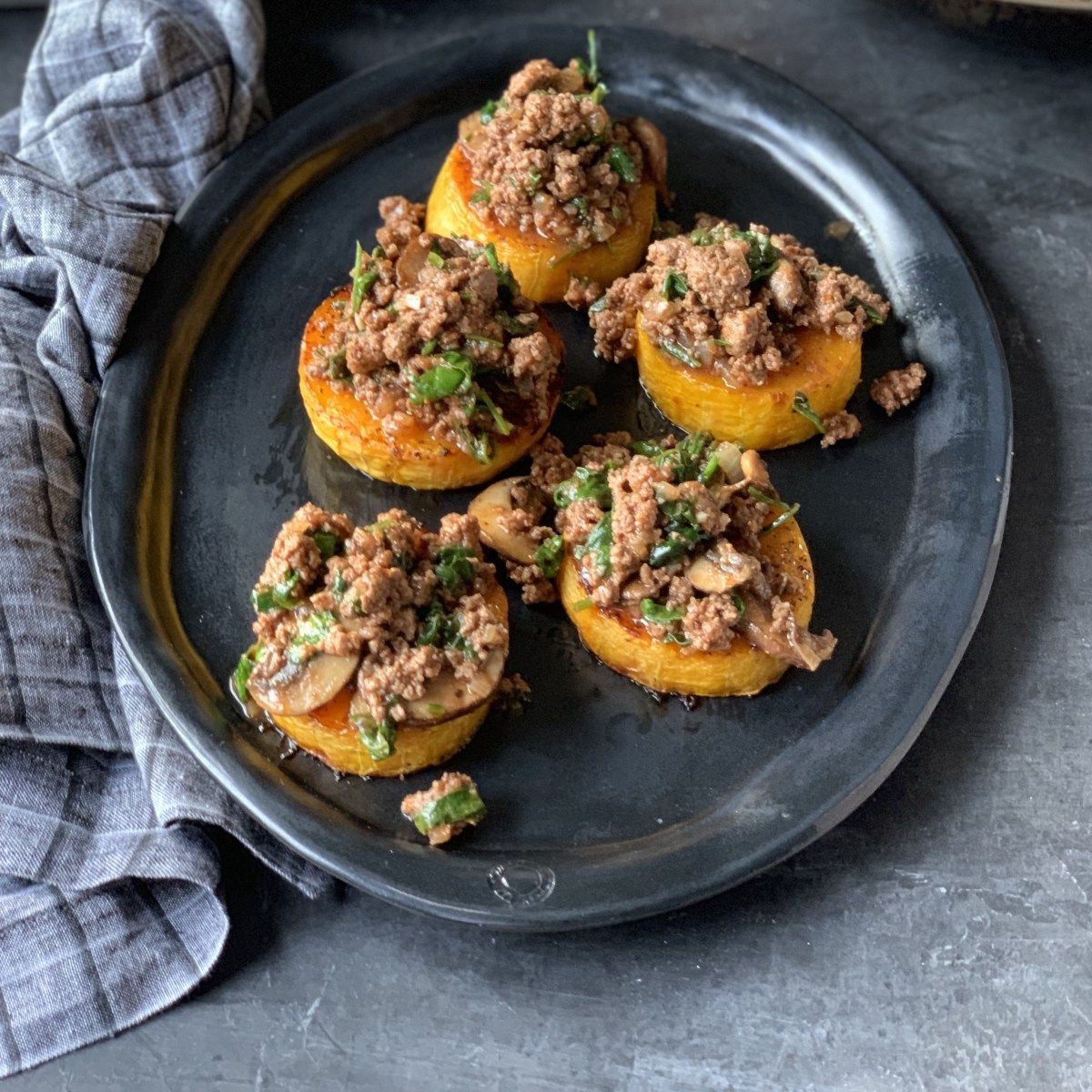 Whole30 Roasted Butternut Squash With Ground Sirloin Recipe