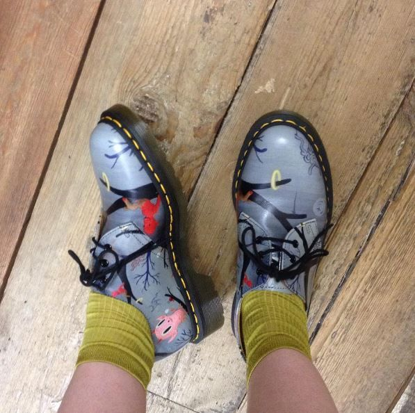 The Dr. Martens x Gary Baseman 1461 shoe, shared by pippatoole