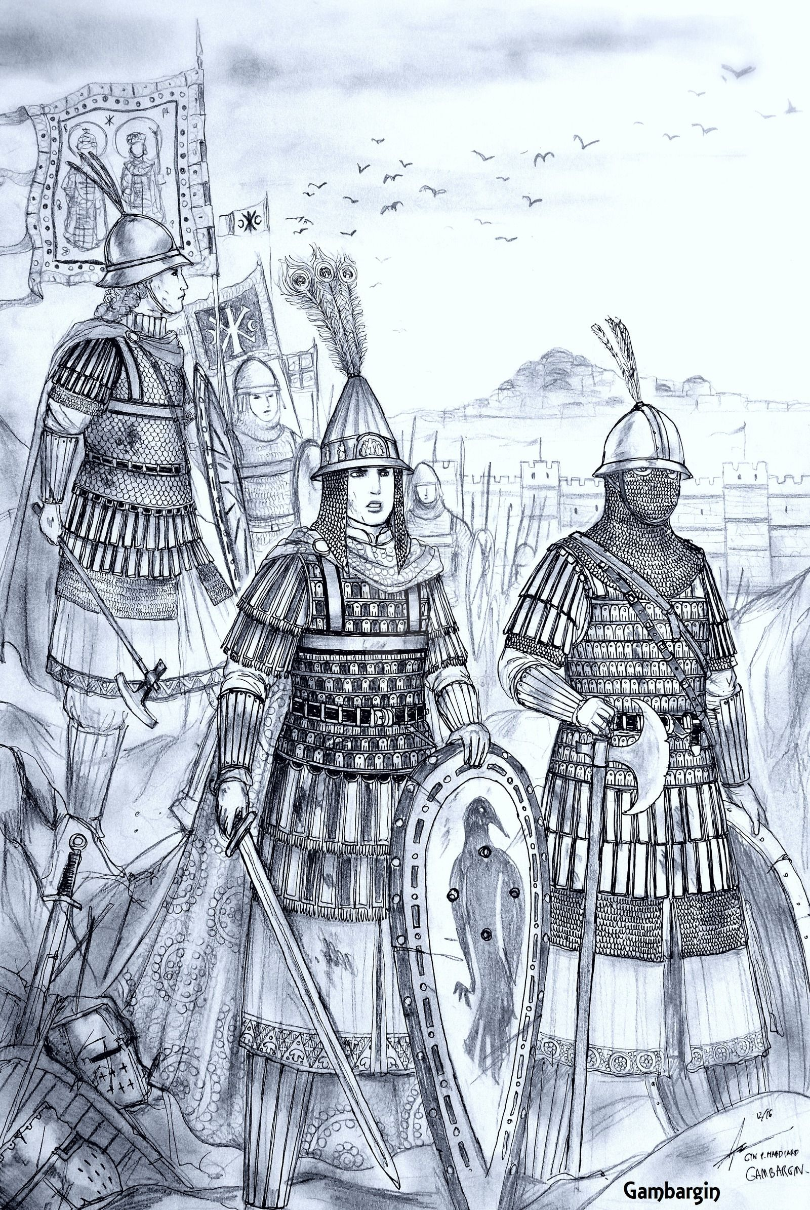 HWS Medieval Female Varangian Guard Concept by Gambargin on ...