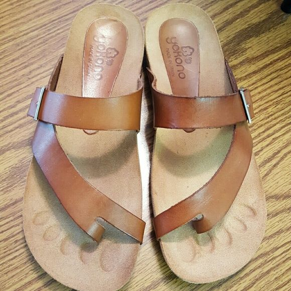 78b1fa4bf207ae Cute Yokono Sandals Cute Brown Yokono Sandals