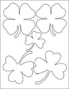 Clover Templates Flowers   Four Leaf Clover And Shamrocks St Patrick S Day Pinterest