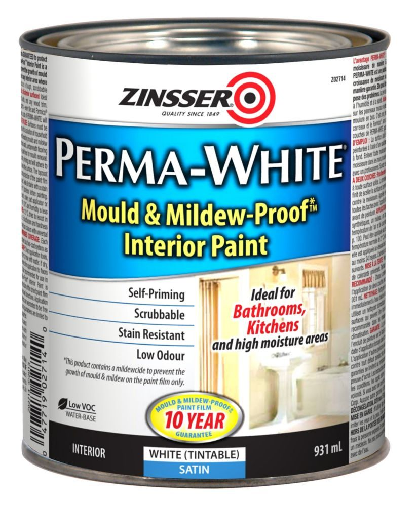 Perma White Satin 946ml Remodeled Campers Interior Paint
