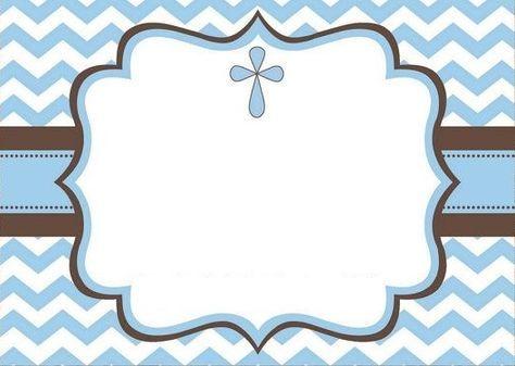 moldura convite de batizado para imprimir gratis