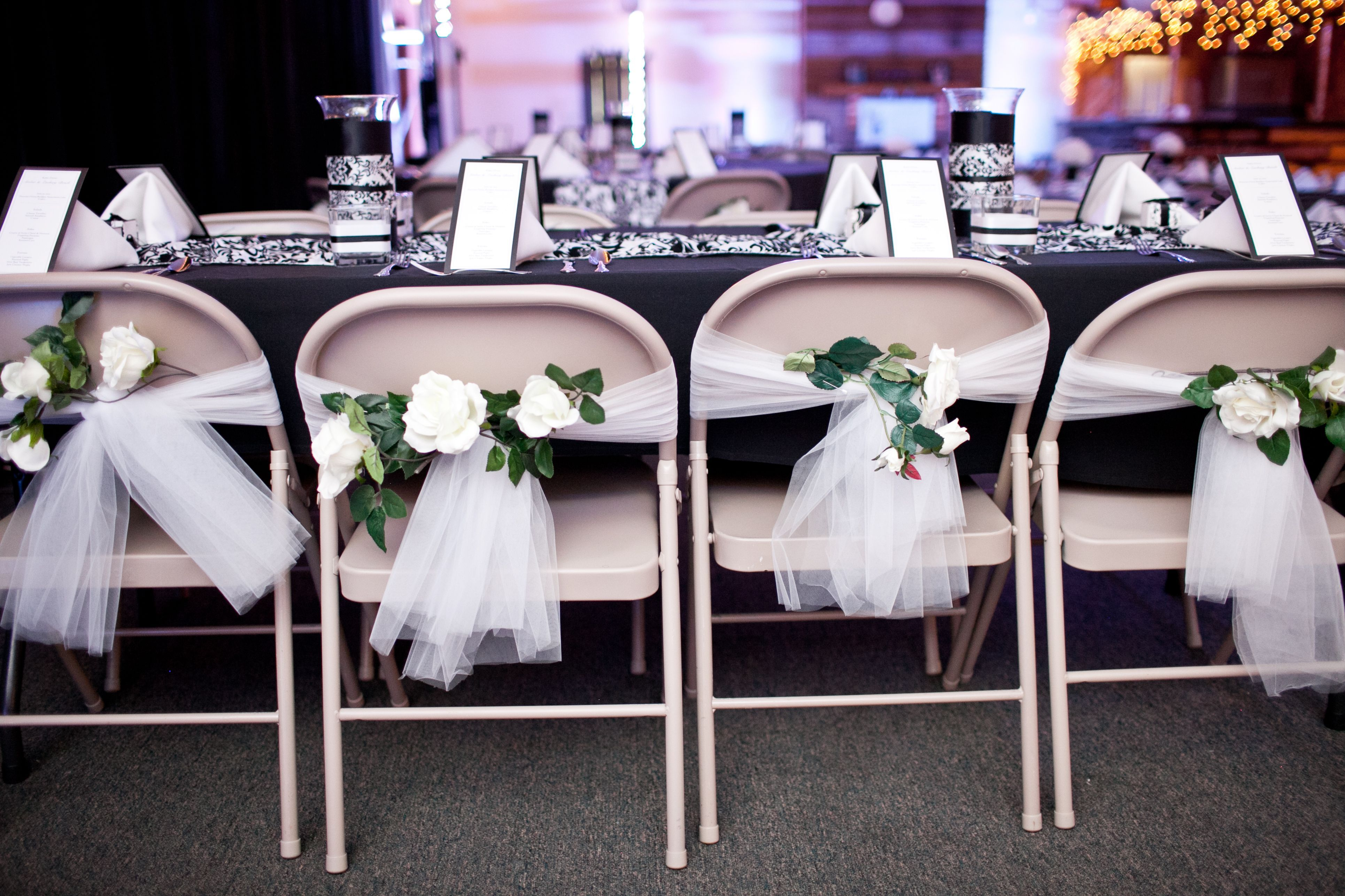 DoItYourself Wedding Chair Decorations Make a Quick