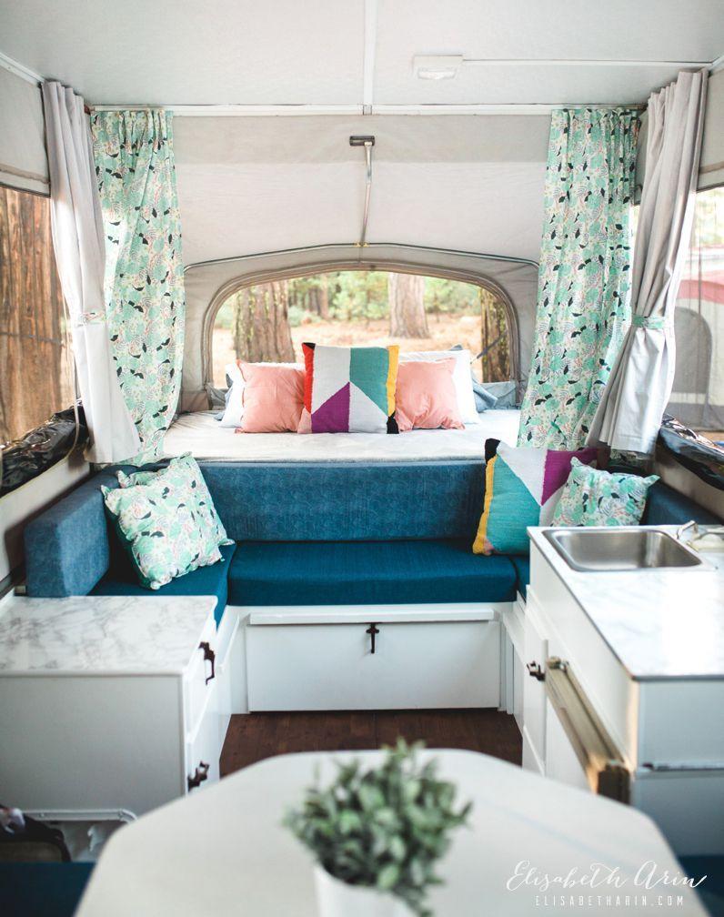 Pop Up Inside Small Campers 44 in 2020 Camper makeover