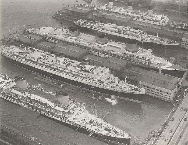1939: Conte Di Savoia, Aquitania, Queen Mary, Normandie y ...