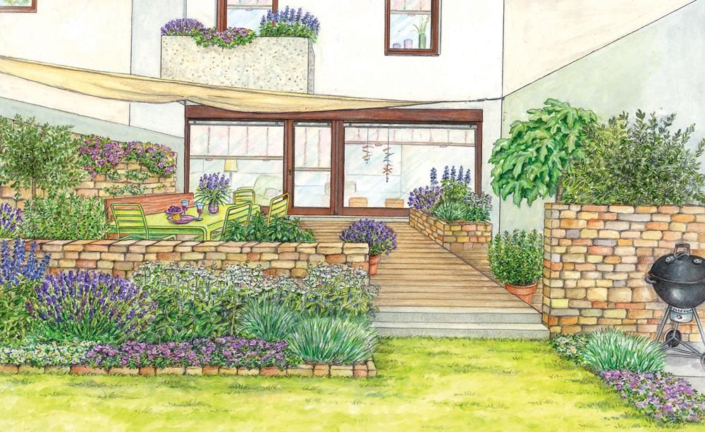 reihenhaus terrasse mit neuem gesicht pinterest. Black Bedroom Furniture Sets. Home Design Ideas