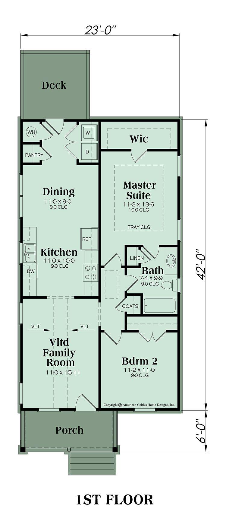 Traditional Plan 966 Square Feet 2 Bedrooms 1 Bathrooms Patterson Floor Plan Design Floor Plans House Plans