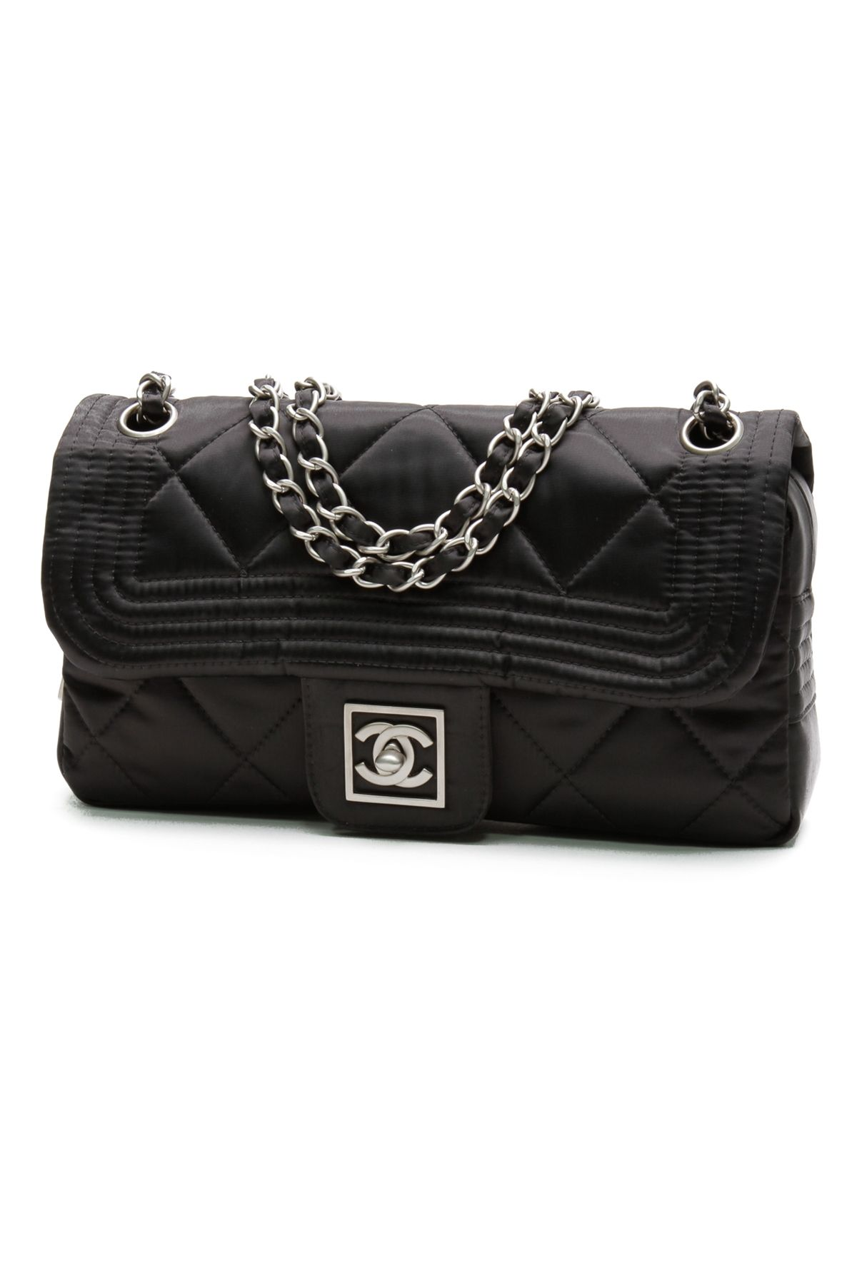 0a50dcb09d41 Chanel Black Quilted Sport Nylon Ski Collection Flap Handbag