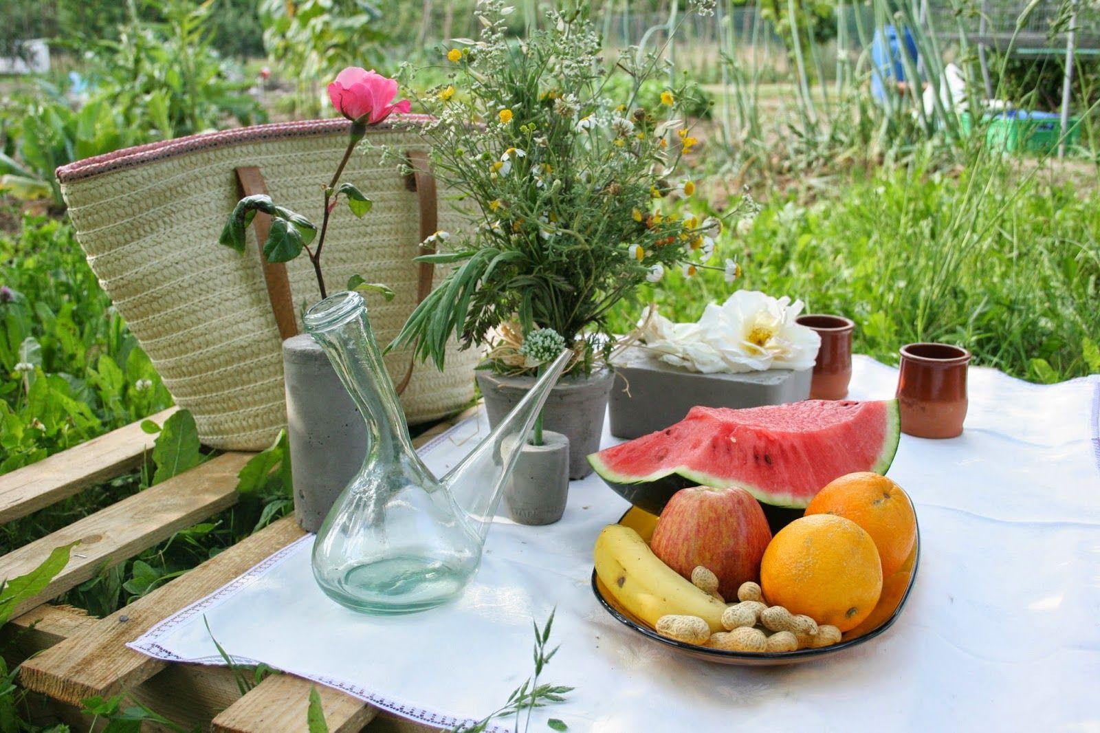 Diy floreros de cemento + picnic campestre sobre un palet   Decorar en familia   DEF Deco