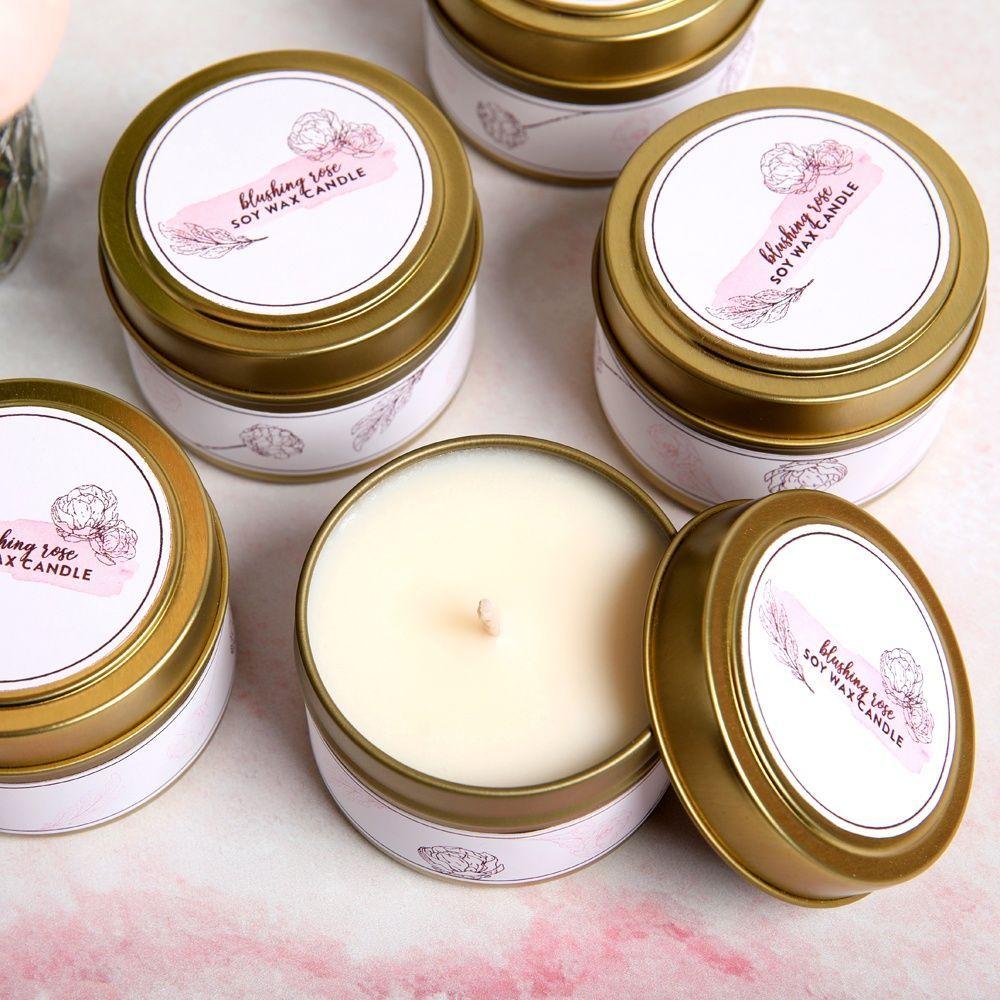 DIY Blushing Rose Candle Kit Candle kits, Rose candle