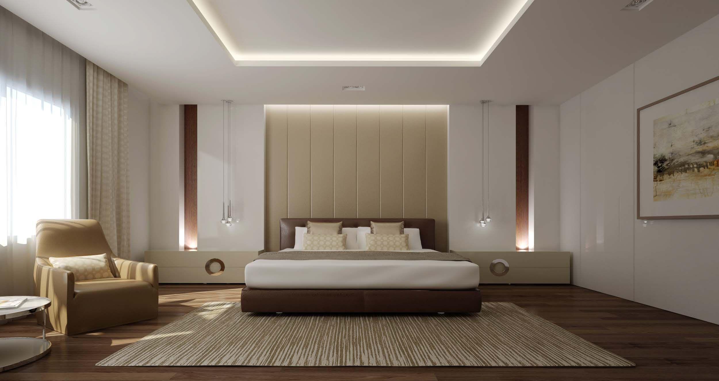 Mimar Interiors Modern Master Bedroom Luxurious Bedrooms Bedroom Decor