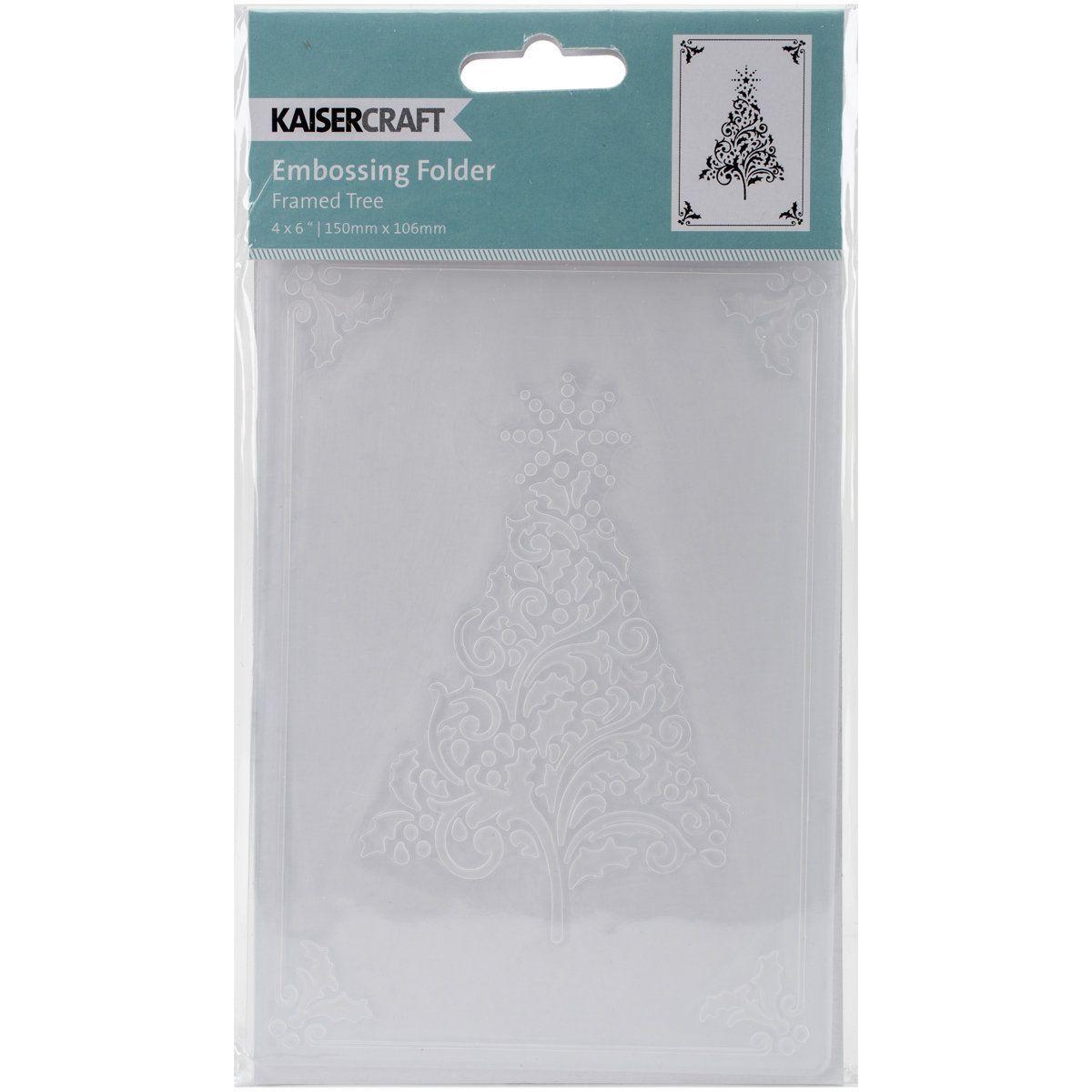 Kaisercraft Embossing Folder 4inX6inFramed Christmas Tree
