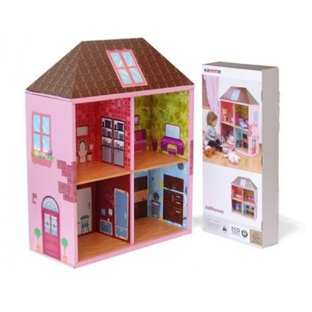Casa de mu ecas en carton juguetes de carton pinterest dolls house and home art - Casa munecas eurekakids ...