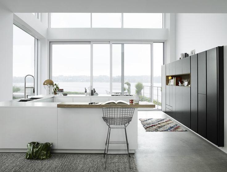 Multiform keuken zwevende halfhoge inbouwkast in contrasterende