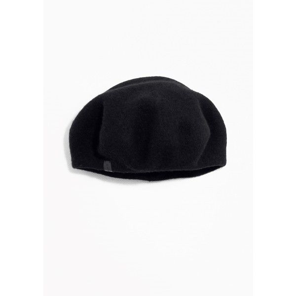 Wool Beret (£66) via Polyvore featuring accessories, hats, woolen hat, red beret, red beret hat, beret hat and wool beret hat