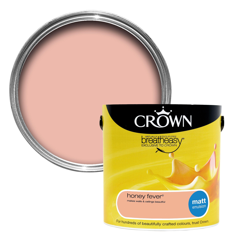 Crown Breatheasy® Honey Fever Matt Emulsion Paint 2.5L | Departments ...