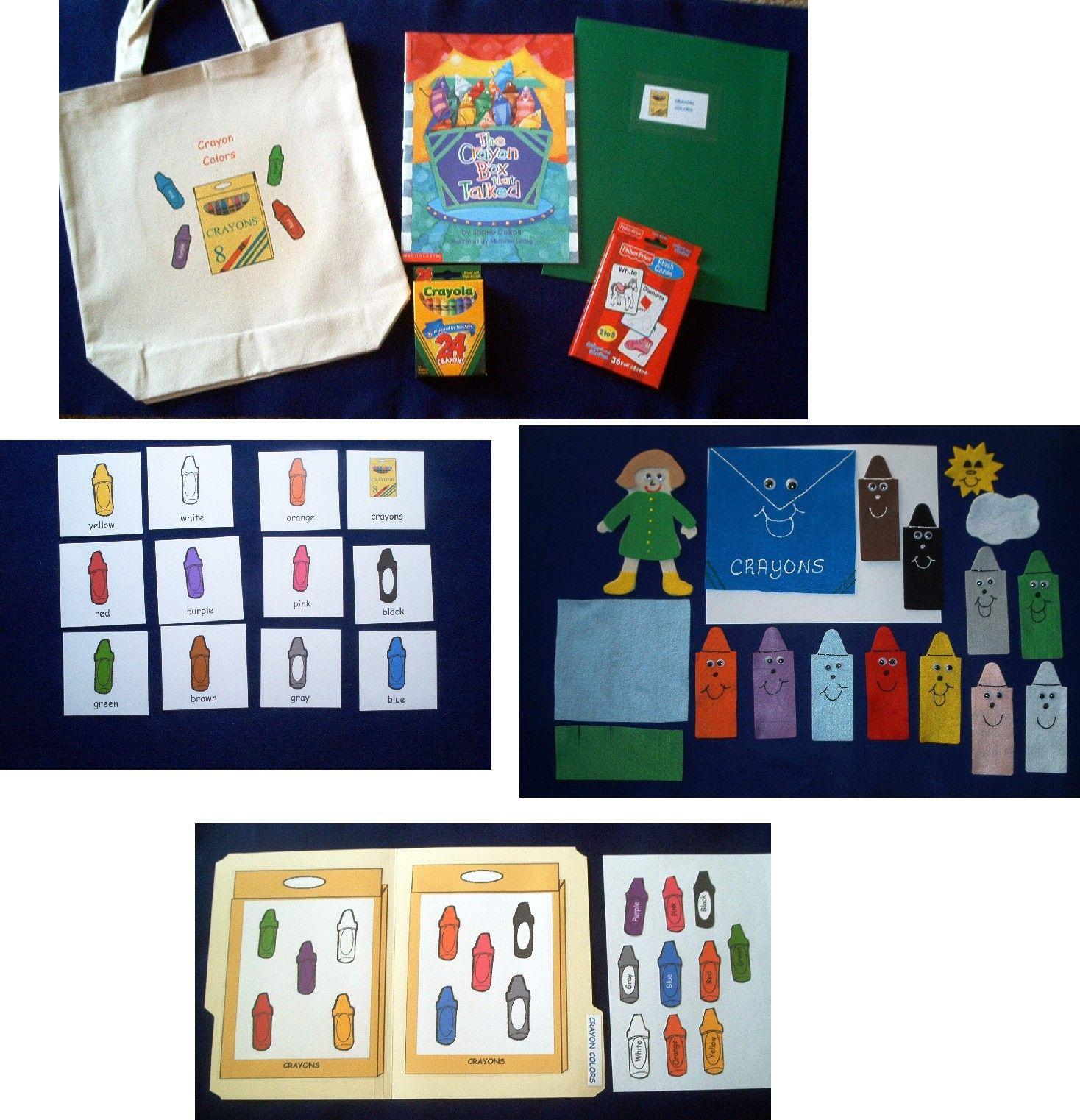 Crayon Box That Talked Colors Literacy Bag