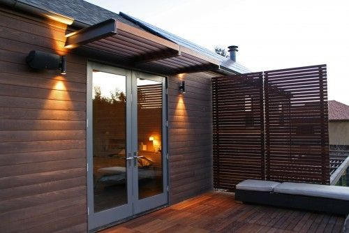 Awning Privacy Screen Double Doors To Replace Sliding Door Modern Patio Modern Patio Design Patio Design
