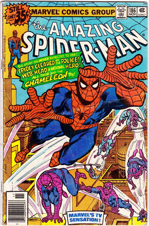 Amazing Spider-Man #186 (1st Series 1963) November 1978 Marvel Comics Grade G+ #comicbooks