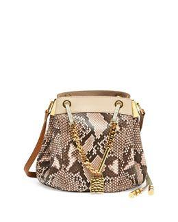 V1W3R Chloe Camille Small Python Crossbody Bag, Pink