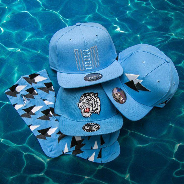 premium selection 078ee 8e268 jordan-pantone-unc-hats-and-socks