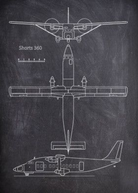 Airplane_Chalk Collection by FARKI15 DESIGN | metal posters - Displate | Displate thumbnail