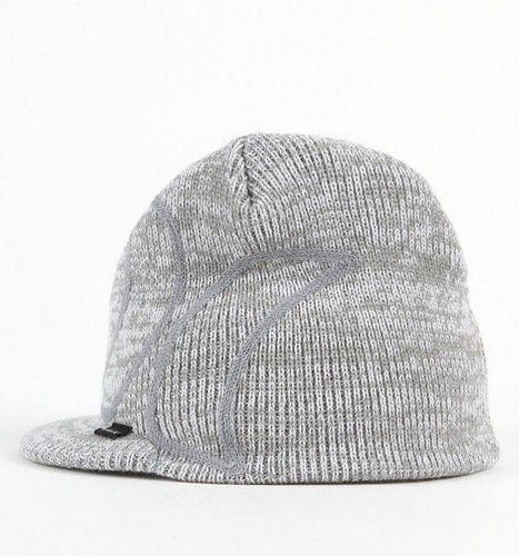 Hurley Wanderer Chain Pale Gray Water Repellant Visor Beanie Hat Cap New  1e029797f079