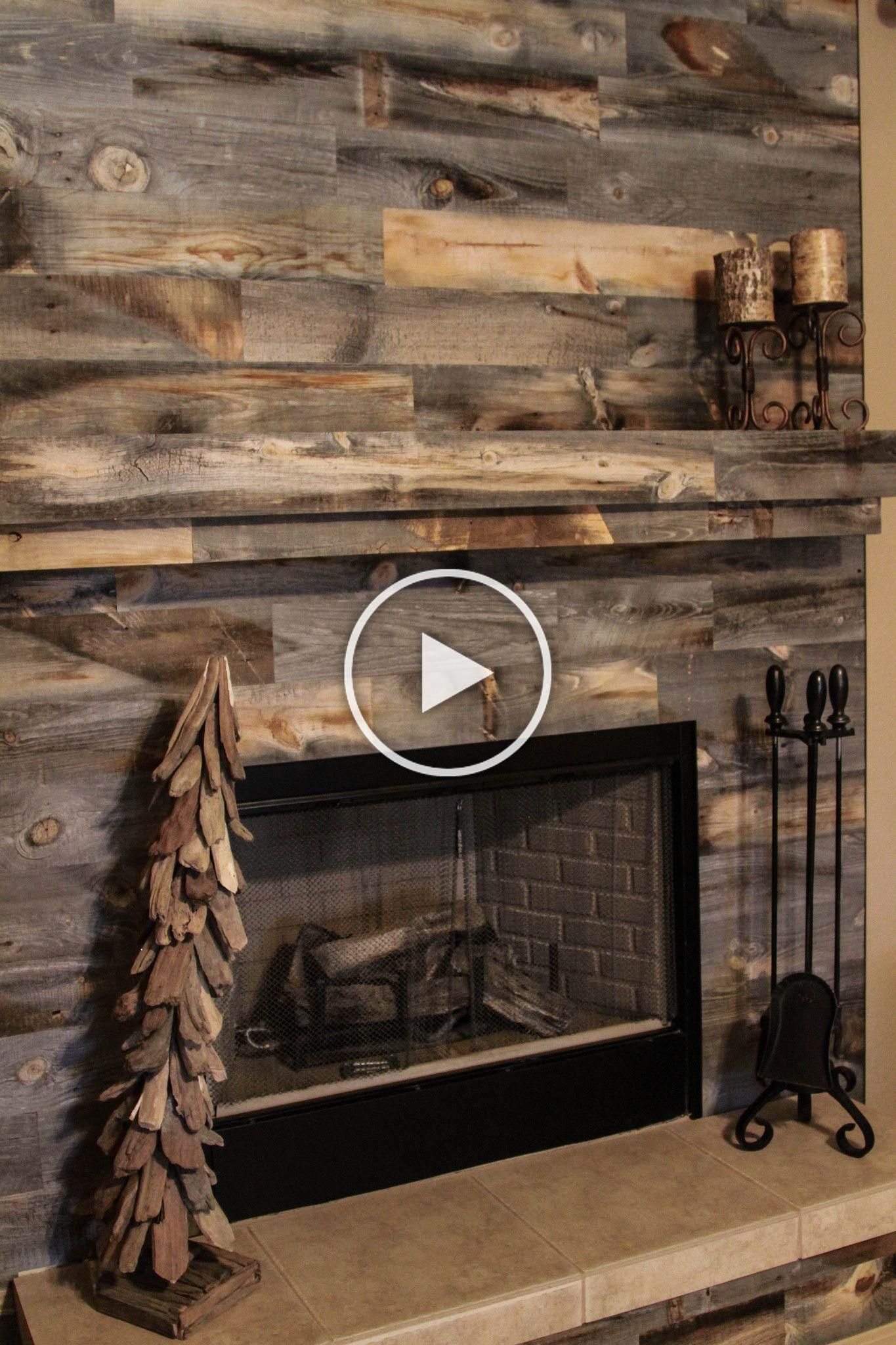 Looking For A Small Weekend Project To Complete Over The Weekend Take A Peek At These Fireplace Designs Using St In 2020 Rustikale Kamine Kamin Wand Kamin Umgestalten