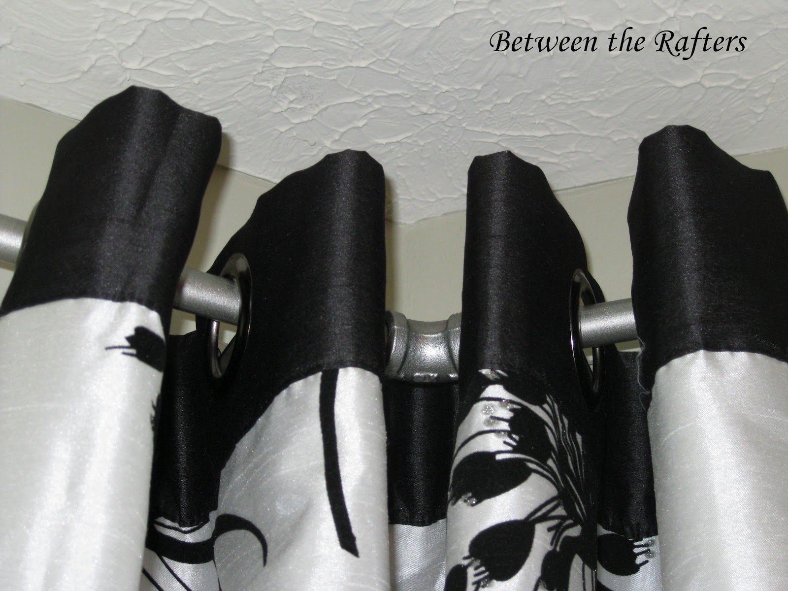 Do It Yourself Window Treatments: Between The Rafters: Do It Yourself Bay Window Curtain Rod