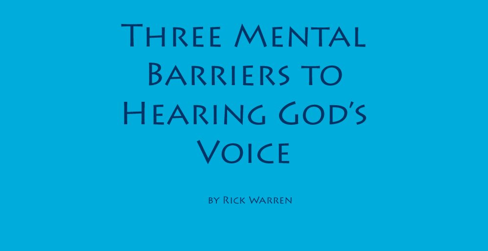 Daily devotionals homepage hearing gods voice hear god